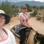My friend and I on the horses