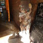 Entrance to up market Indian shop