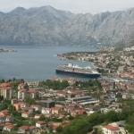 Beautiful view high above Kotor