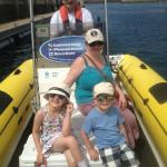 Family on the water after completing the course!