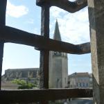 l'église sainte marthe vue des fenêtres