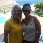 Evi (in yellow)-The wonderful hostess and me
