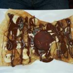 Crepes with banana chocolate!.