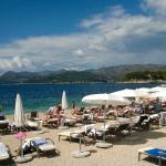 Spiaggia privata dell'Hotel Lacroma President