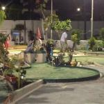 Crazy golf across the road closes at midnight