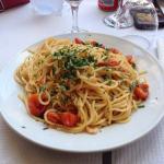 Spaghetti gamberi e pomodorini!!ottimi