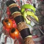 Eggplant and meatballs, was a perfect blend of a turkish kebab...