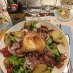 Salade de fromage chaud