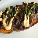 Black Bean Chili Stuffed Sweet Potato