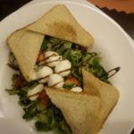 The salad with grilled mozzarella