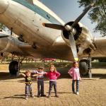 avião no patio do Catavento