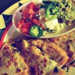 Guapos Shirlington VA — mushroom spinach quesadilla