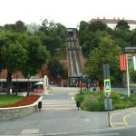Bus Stop and Funicular to Budapest Castle