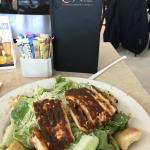 Blackened chicken breast caesar salad