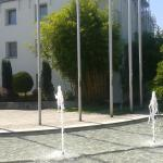 Akademie Hotel, fountain.