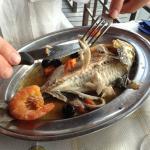 Il pesce l'ha sfilettato Simona! Bella e brava!