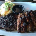 steak and ribs
