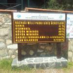 Kaz Dağları Milli Parkı 2015 yılı giriş ücretleri