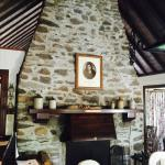 Old fireplace - nice setting for breakfast