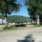 looking out from RV park toward highway