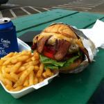 Bacon cheeseburger Asian BBQ Pork Food truck