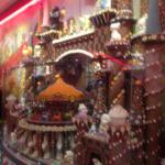 a chocolate castle display