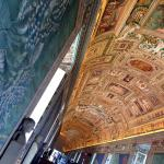 The 120 metre long Gallery of Maps hallway at Vatican Museums