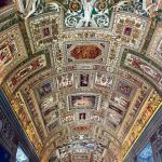 Lovely panelled and frescoed ceiling in the Gallery of Maps