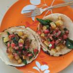 tacos I made in the little kitchen with the only things I could scrounge up at the little stores