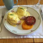 Beautiful Eggs Benedict with Tomatoes