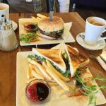 Steak Sandwich and Caveman Burger