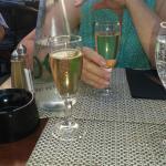 Dos copitas de champagne