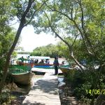 Island boat-landing....