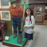 Me with Smokey the Bear. The first moment I saw him he scared the daylights out of me.