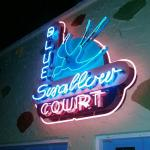 Blue Swallow Neon Sign