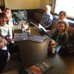 Family meal whilst on holiday
