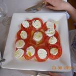 Tomaten/Mozzarella als Hauptspeise