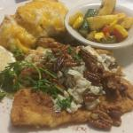 flounder with crab meat and toasted pecan