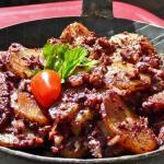 Blutwurst-Kartoffel-Pfännchen