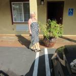 Me outside the motel