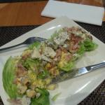 Iceberg Wedge With Roquefort crumble, crispy bacon and blue cheese dressing R85.00 Wilted lettuc