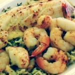 Baked Ocean Platter- Baked Haddock, Shrimp, and Scallops on Rice Pilaf