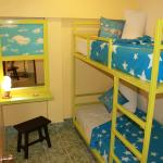 Bunk bed (for Two) share bathroom Room#1
