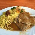 Schnitzel and spatzle