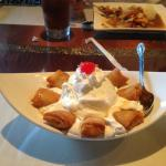 Fried Banana with Coconut Ice Cream