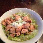 Smoked trout and lemon creme fresh salad