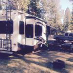 My fifth wheel and campsite