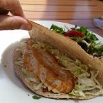 Fish taco at Penny's Palapa