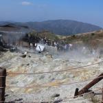 Smokey fumes of live volcano