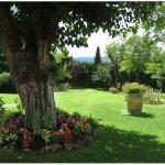 Attractive gardens with Tuscan views
